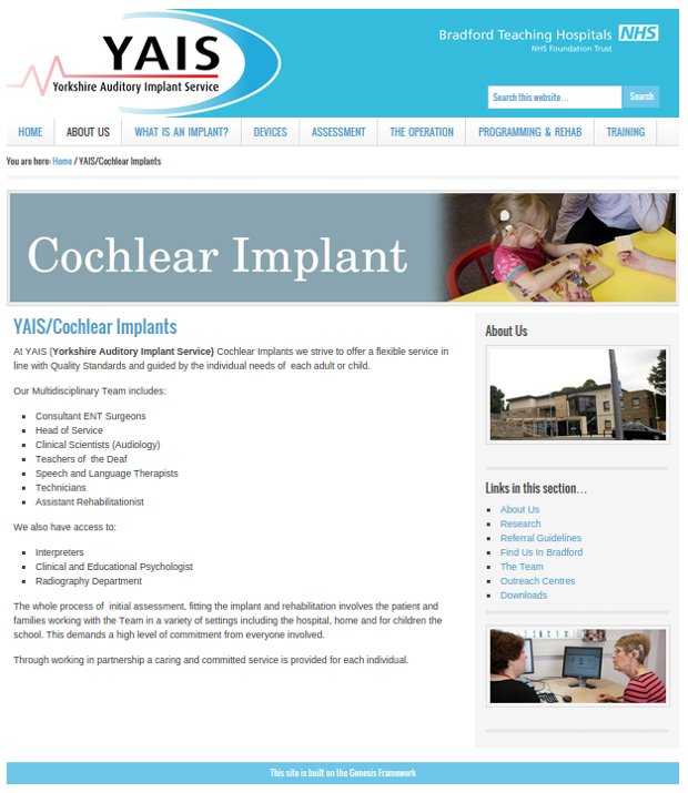 YAIS Yorkshire Auditory Implant Service