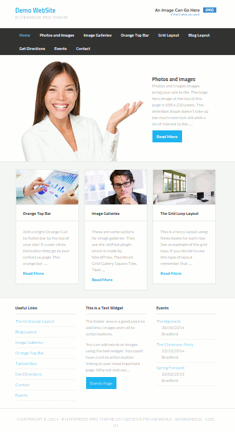 Demo website showing the features available in a website built by Mr SiteCare